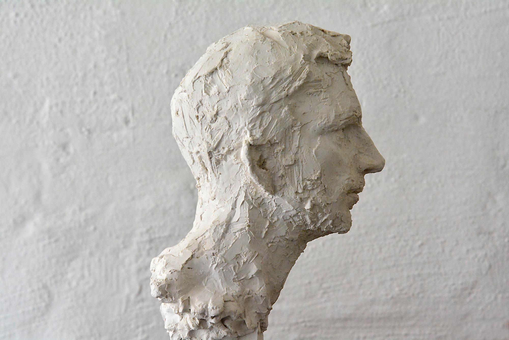 portraitkopf von c.m. in gips gegossen